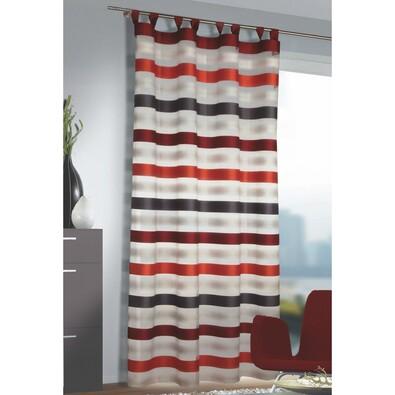 Záclona s poutky Katie červená, 140 x 245 cm