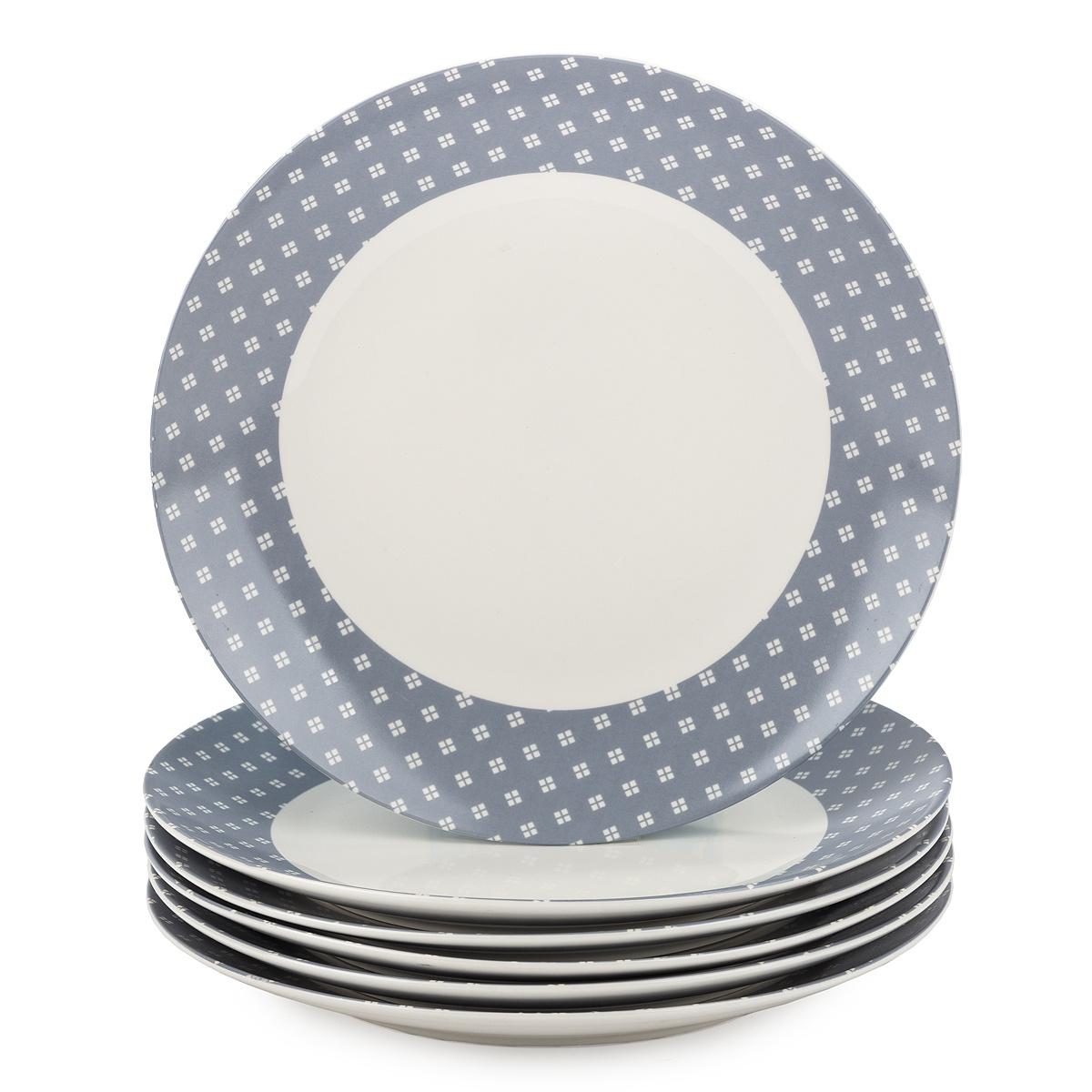 Fotografie Altom Sada porcelánových dezertních talířů Lena 20 cm, 6 ks