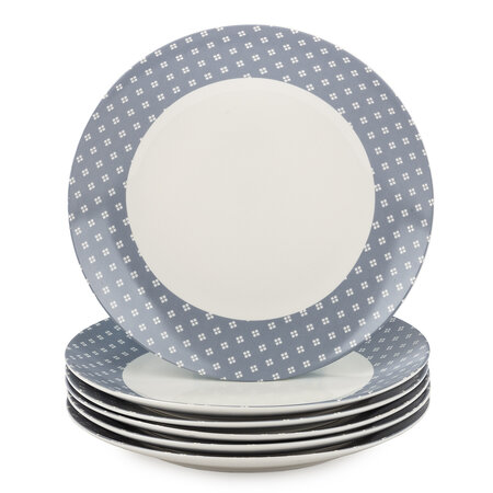 Altom Sada porcelánových dezertních talířů Lena 20 cm, 6 ks