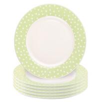 Altom Punto II desszertes tányér készlet, 6 db-os, zöld