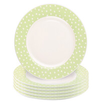 Altom Sada dezertních talířů Punto II 6 ks, zelená