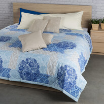 Přehoz na postel Ottorino modrá