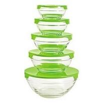 Florina Verdure 5 db-os tálkészlet, zöld