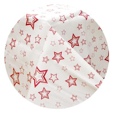 Plastový ubrus Vánoční hvězda, červená