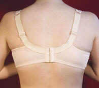 Podprsenky bez kostic, 2 kusy - tělová, bílá, 105 C