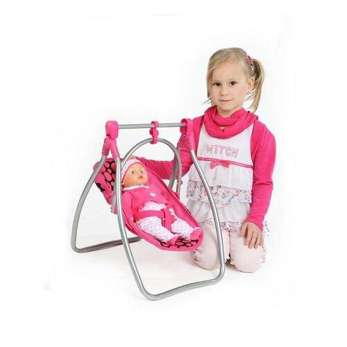 PlayTo Jedálenská stolička a hojdačka pre bábiky Isabela, 58 x 32 x 43 cm