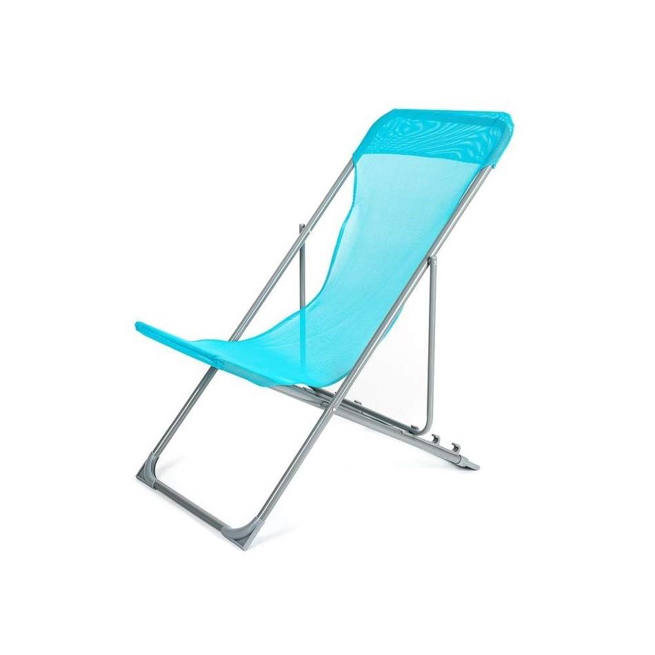 HAPPY GREEN Křesílko plážové skládací CARIBIC 56,5 x 91 x 96 cm světle modré