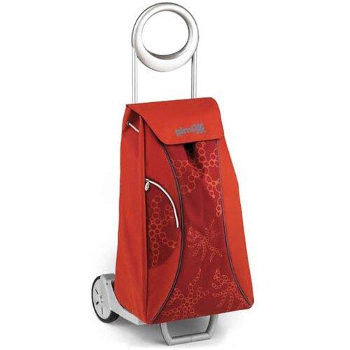 Market Queen Nákupná taška na kolieskach červená