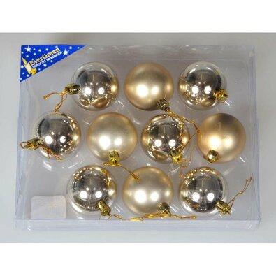 Sada vianočných ozdôb Teruel 10 ks, zlatá