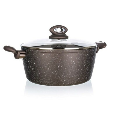 BanquetKastrol s nepřilnavým povrchem  Premium Dark Brown 24 cm, s poklicí