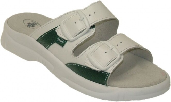 Santé Pánské zdravotní pantofle vel. 45 bílé