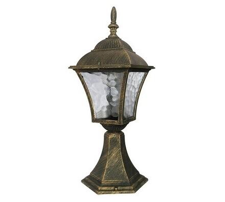 Venkovní stojací lampa Rabalux Toscana antická zlatá, 14,5 x 43 x 20,5 cm
