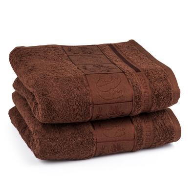 4Home ručník Bamboo hnědá, 50 x 100 cm, sada 2 ks