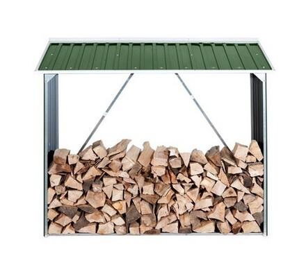 Kovový přístřešek na dřevo