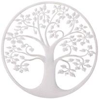 Kovová nástenná dekorácia Strom života, biela, 40 x 1 x 40 cm
