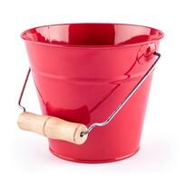 Woody kerti vödör, 15 x 13 cm, piros