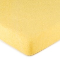 4Home prześcieradło frotte żółte, 180 x 200 cm