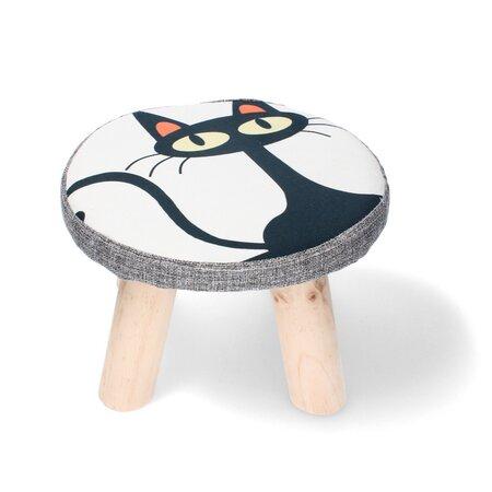 Dětská stolička Kočka, 28 x 28 x 18 cm