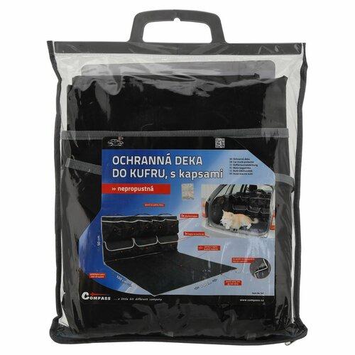 Compass Ochranná deka do kufra s vreckami, čierna