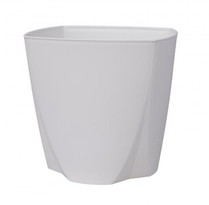 Plastový květináč Camy 21 cm, bílá, Plastia, pr. 21 cm
