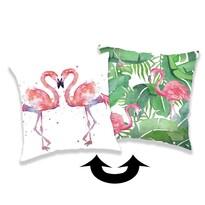 Jerry Fabrics párnahuzat flitterekkel, Flamingo 01, 40 x 40 cm