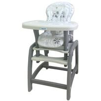 Baby Mix Jídelní židlička 2v1, šedá