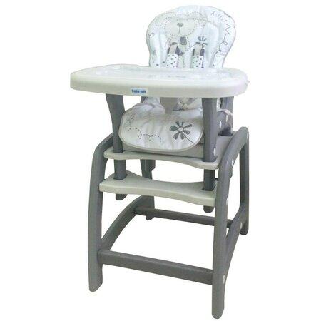 Baby Mix Jedálenská stolička 2v1, sivá