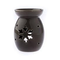 Aroma-lampă ceramică Fulg, gri
