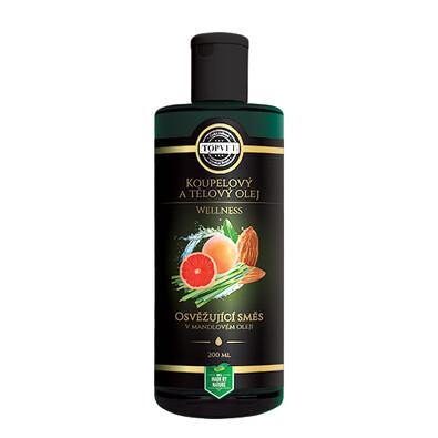 Topvet Koupelnový a tělový olej osvěžujúci směs 200 ml