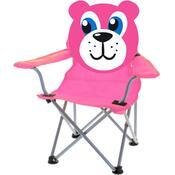Dětská skládací židle Teddy, růžová