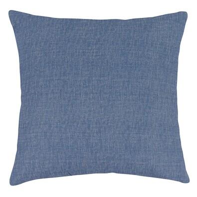 Polštářek Ivo UNI modrá režná, 45 x 45 cm