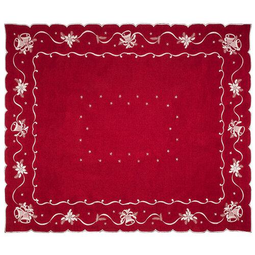 Vianočný obrus Zvončeky červená, 120 x 140 cm