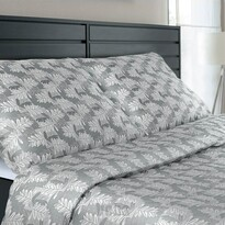 Veba Geon Tölgyfalevelek damaszt ágynemű, szürke, 140 x 220 cm, 70 x 90 cm