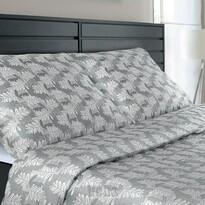 Veba Lenjerie de pat din damasc Geon Frunze de stejar, gri, 140 x 220 cm, 70 x 90 cm