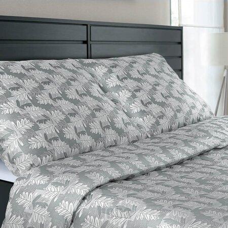 Veba Damaškové obliečky Geon Dubové listy sivá, 140 x 220 cm, 70 x 90 cm