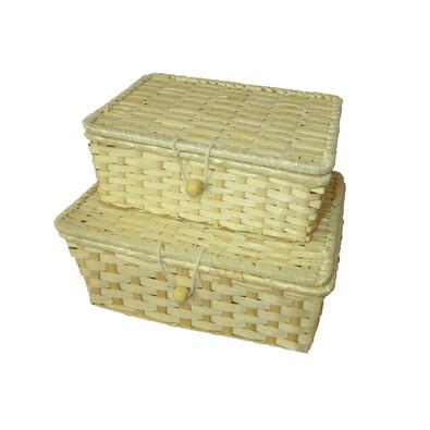 Set bambusových truhliček, 2 ks