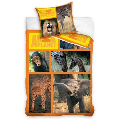 Bavlněné povlečení Animal Planet - Safari, 140 x 200 cm, 70 x 80 cm