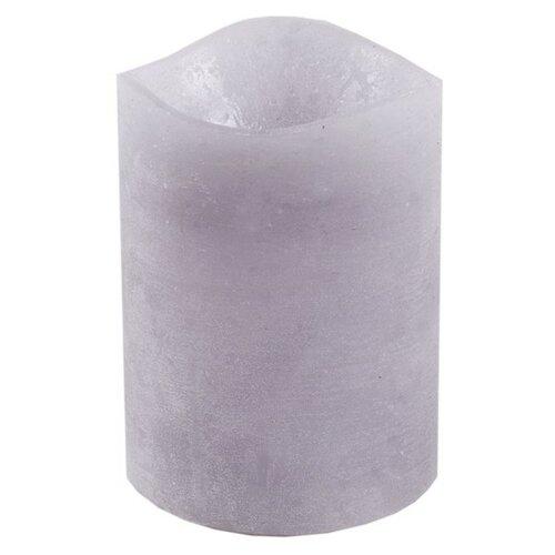 LED svíčka potažená voskem 7,6 x 10 cm, šedá