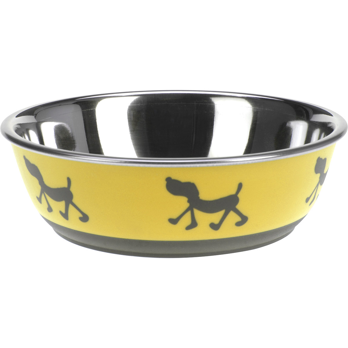 Miska pre psa Doggie treat žltá, pr. 17,5 cm