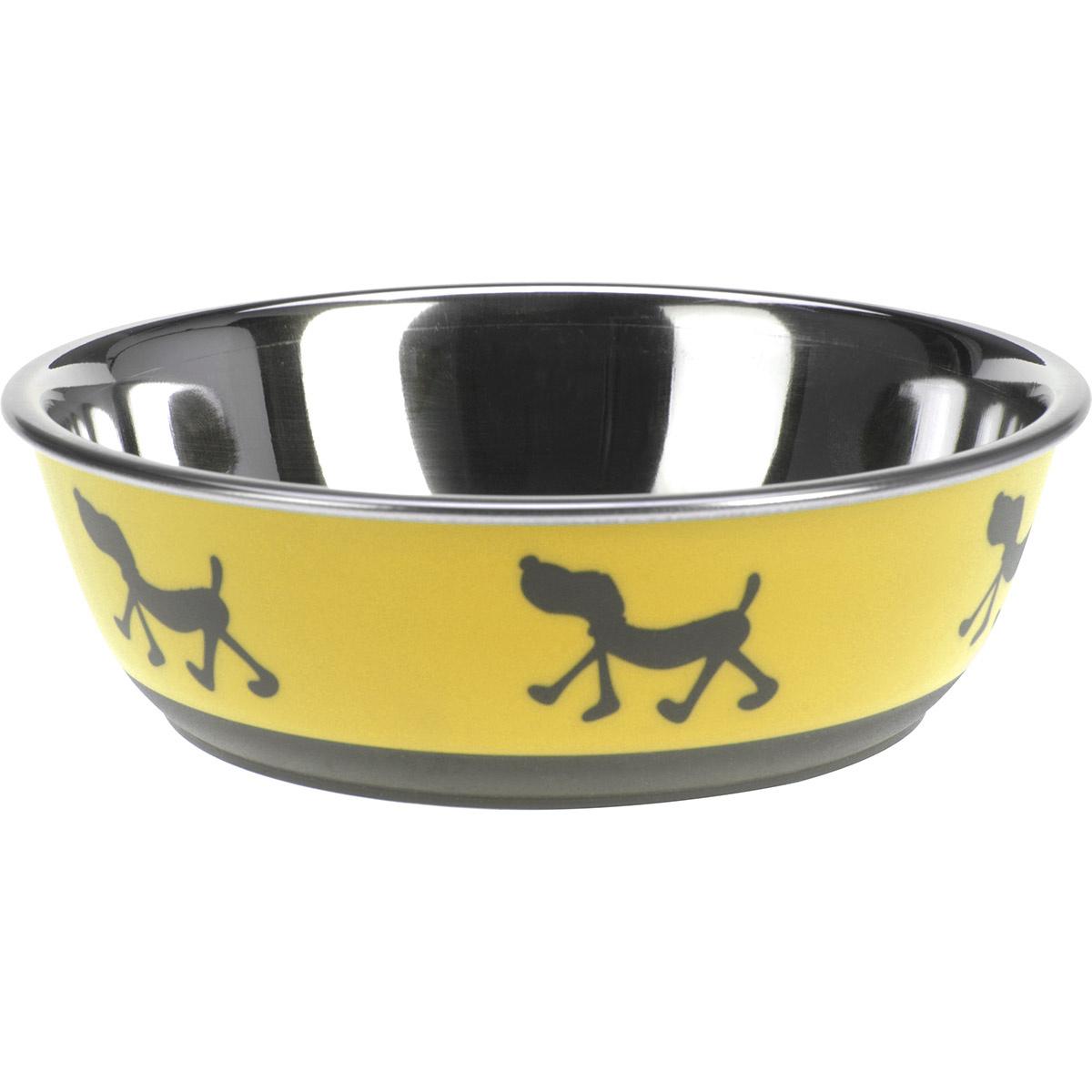 Miska pro psa Doggie treat žlutá, pr. 17,5 cm