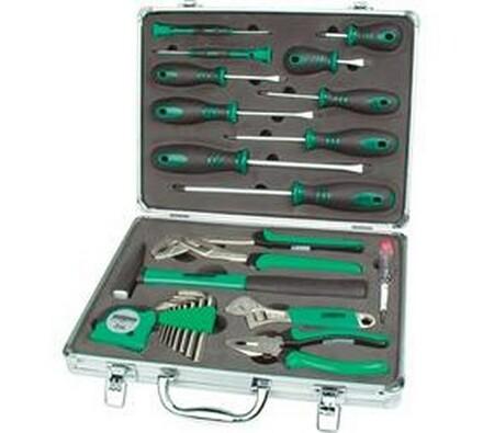 Souprava nářadí v kufru, Conrad, zelená