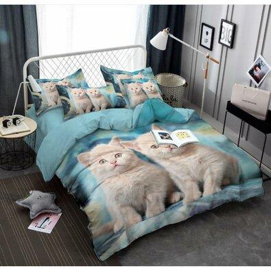 Obliečky Cats 3D, 140 x 200 cm, 70 x 90 cm