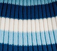 Pletená čepice se širokými pruhy Karpet 5069, modr