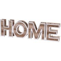Drewniany napis dekoracyjny Home, 38 cm