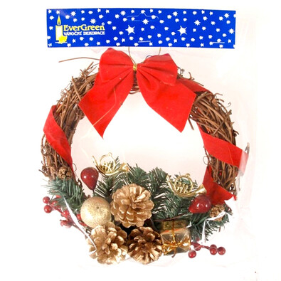 Dekorativní vánoční věneček, pr. 20 cm