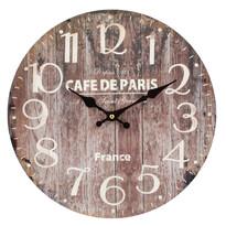 Zegar ścienny Wood brązowy, śr. 34 cm