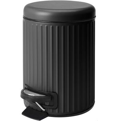 Kozmetický odpadkový kôš Line, čierna