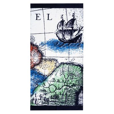 4Home Plážová osuška Mapa, 75 x 150 cm