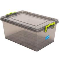 Aldotrade Plastový úložný box 9,2 l, šedá