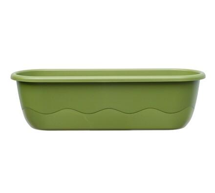 Samozavlažovací truhlík Mareta 60 + hák, zelená